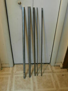 5 Pc Assorted Hex Stainless Steel Bar 36 Inches Long