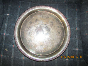 International Silver Co Castleton Silver Plate Tray Platter Great Condition