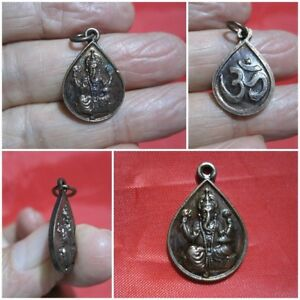 Lord Ganesh Pendant Thai Copper Ganesha Elephant Headed God Success H105 C