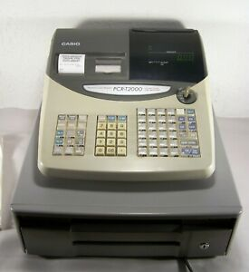 Nice Casio Pcr t2000 Electronic Cash Register Used Store Supermarket Business