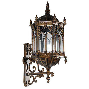 Bronze Finish Gothic Medieval Lamp Metal Porch Light Wall Sconce Fixture 31 H