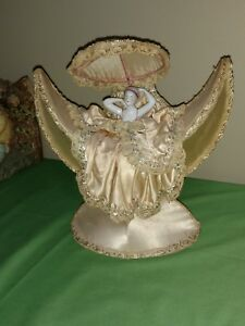 Antique Art Deco Porcelain German Half Doll Figural Dresser Accessory