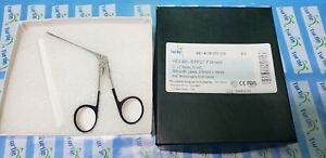 Turtle Micro Alligator Ear Forceps 3 Shaft Smooth Jaws 0 9mmx4 0mm Black Rings