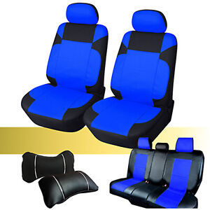 Car Seat Covers Cushion Pu Leather Set Front Rear For Chevrolet 59255 Bk blue