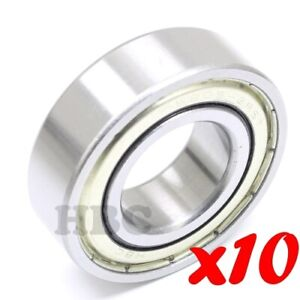 Set Of 10 Radial Ball Bearing 6205 2rst With 2 Trash Guard Seals