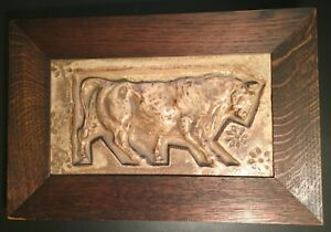 Alexandre Bigot French Art Deco Arts Crafts Tile Animal Frieze Paris Expo 1900