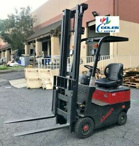 New Electric Forklift 4 Wheel 2200 Lbs Capacity Narrow