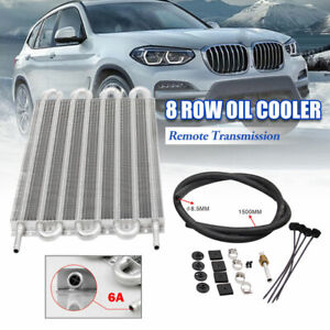 8 Row Universal Oil Cooler Remote Transmission Auto Manual Radiator Converter