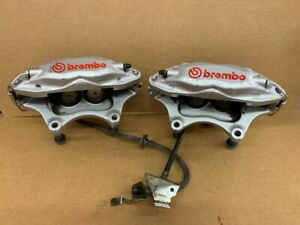 2014 2017 Chevy Ss Brembo Front Brakes Silver Red Used Brake Caliper