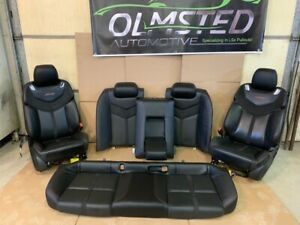 14 17 Chevy Ss Complete Set Seats Ebony Leather Suede Front Rear Oem Gm
