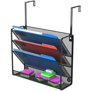 Legal Size Hanging Cubicle Organizer Office Wall Mount File Holder