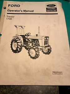 Ford New Holland Tractor 1700 Operator s Manual