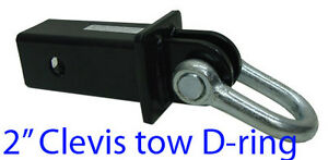 2 Hitch Clevis Tow D Ring Shackle Bow 5 000lb Cap