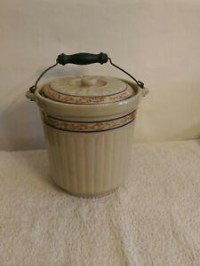 Red Wing Stoneware Bailed Butter Crock 5 Antique Very Nice Free Shipping