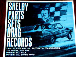 1967 Ford Shelby Parts Original Ad 1965 Fairlane 500 Gt Hood Decal Cobra Wheels