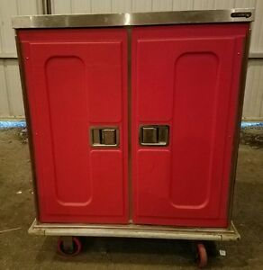 Caddy Food Tray Delivery Cabinet Food Truck Red
