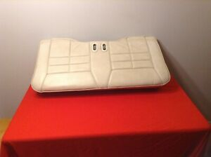 87 93 Ford Mustang Convertible Lower Rear Seat White Leather