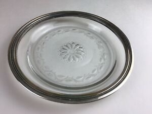 Tiffany Co Sterling Silver Glass Wine Bottle Coaster