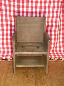 Vintage Chair Wooden Potty Chair Child S Chair Shabby Chic Country Seating