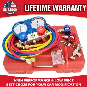 Hvac Ac Refrigeration Kit A C Manifold Gauge Set Air R12 R22 R134a 410a R404z Us