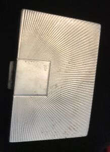 Antique Lentheric Compact Art Deco Sterling Silver Mirror Case
