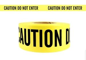 New 4 Rolls Of Barricade Tape caution Do Not Enter 3 x1000ft Yellow black