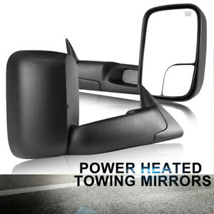 Lh Rh For 98 01 Dodge Ram 1500 2500 3500 Flip Up Power Heated Towing Mirrors