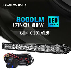 Single row Cree 17inch 80w Combo Led Light Bar Offroad Driving 4wd Truck Suv 18
