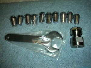 Atlas Craftsman Dunlap 109 Lathe Complete Collet Chuck Set 1 2 20 12 Collets New