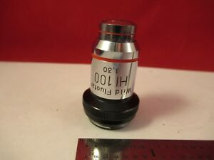 Wild Swiss Objective 100x Fluotar Microscope Part Optics 75 b 30