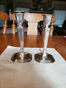 Antique 1914 Tiffany Co Sterling Silver Weighted Candlesticks