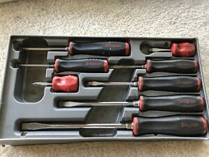 Snap On 8 Piece Soft Grip Combination Screwdriver Set