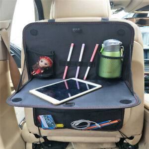 Car Back Seat Organizer Storage Holder Foldable With Tray Table Multi Pocket Bag