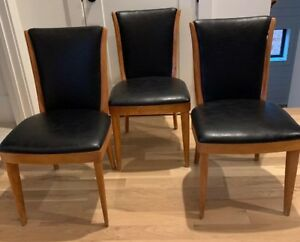 Set Of 3 Mid Century Danish Modern Heywood Wakefield Champagne Dining Chair