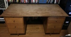 Paul Mccobb Mid Century Modern Planner Group Desk Rare Six Drawers Mcm