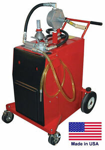 Gas Fuel Caddy Commercial 30 Gallon Ul Osha Approved Rotary Hand Pump