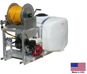 Sprayer Commercial Skid Mounted 6 Gpm 290 Psi 5 5 Hp 100 Gallon Tank