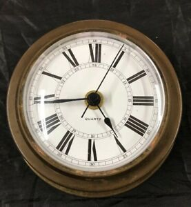 Brass Ships Clock Marine Quartz