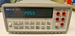 Hp Agilent 34401a 6 5 Digit Multimeter Passes Self Test