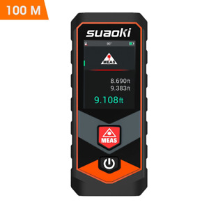 Suaoki P7 328ft Laser Distance Measure With Bluetooth 4 0 touchscreen And Angle