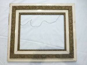 Antique Large Picture Frame White And Gold Decorative 16 X 20 5 Wide