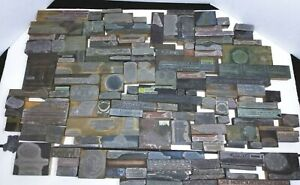 Antique Vintage Buffalo Ny Ad Letter Press Printing Plate Cut Stamp Block Lot C