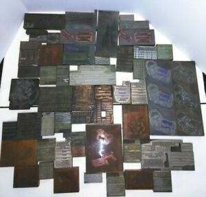 Antique Vintage Buffalo Ny Ad Letter Press Printing Plate Cut Stamp Block Lot B