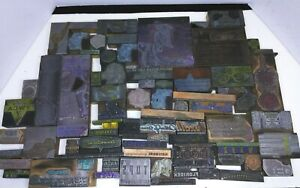 Antique Vintage Buffalo Ny Ad Letter Press Printing Plate Cut Stamp Block Lot 8