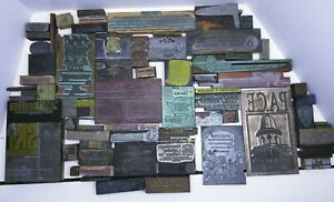 Antique Vintage Buffalo Ny Ad Letter Press Printing Plate Cut Stamp Block Lot 4