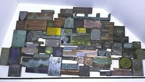 Antique Vintage Buffalo Ny Ad Letter Press Printing Plate Cut Stamp Block Lot 5
