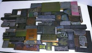 Antique Vintage Buffalo Ny Ad Letter Press Printing Plate Cut Stamp Block Lot E