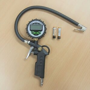 Air Tire Inflating Inflator Digital Gauge Pistol Gun 220psi