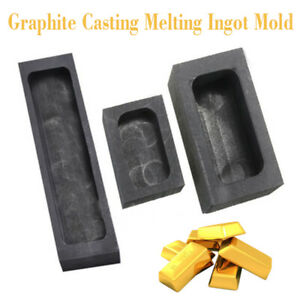 raphite single hole Casting Ingot Bar Mold Refining Scrap For Copper Silver Gold