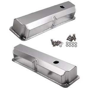 For Ford Fe Bbf 390 406 428 Fabricated Aluminum Valve Covers 1 4 Billet Rail